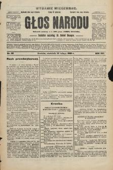 Głos Narodu : dziennik polityczny, założony w r. 1893 przez Józefa Rogosza (wydanie wieczorne). 1908, nr90