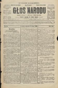 Głos Narodu : dziennik polityczny, założony w r. 1893 przez Józefa Rogosza (wydanie wieczorne). 1908, nr92