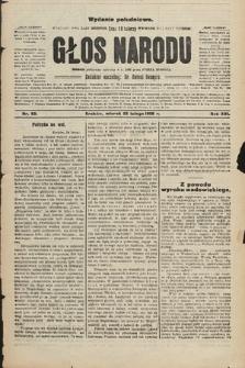 Głos Narodu : dziennik polityczny, założony w r. 1893 przez Józefa Rogosza (wydanie południowe). 1908, nr93
