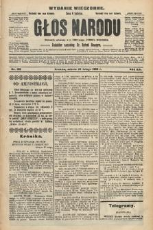 Głos Narodu : dziennik polityczny, założony w r. 1893 przez Józefa Rogosza (wydanie wieczorne). 1908, nr100