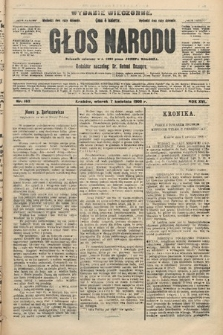 Głos Narodu : dziennik polityczny, założony w r. 1893 przez Józefa Rogosza (wydanie wieczorne). 1908, nr162
