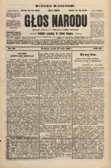 Głos Narodu : dziennik polityczny, założony w r. 1893 przez Józefa Rogosza (wydanie wieczorne). 1908, nr219