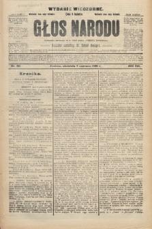 Głos Narodu : dziennik polityczny, założony w r. 1893 przez Józefa Rogosza (wydanie wieczorne). 1908, nr261