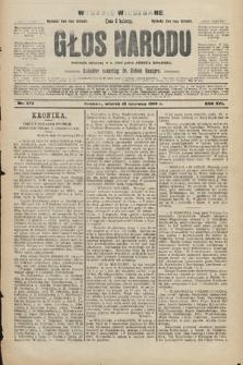 Głos Narodu : dziennik polityczny, założony w r. 1893 przez Józefa Rogosza (wydanie wieczorne). 1908, nr273
