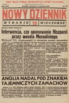 Nowy Dziennik (wydanie wieczorne). 1939, nr19