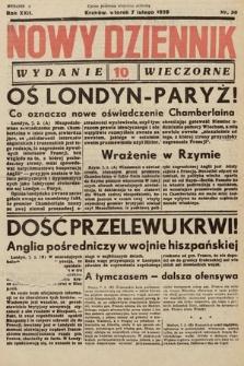 Nowy Dziennik (wydanie wieczorne). 1939, nr38