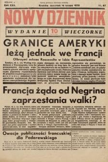 Nowy Dziennik (wydanie wieczorne). 1939, nr47