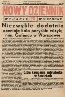 Nowy Dziennik (wydanie wieczorne). 1939, nr68