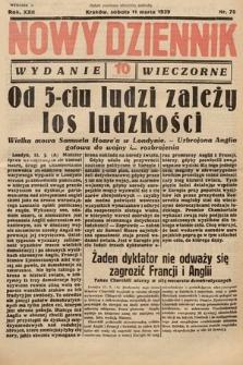 Nowy Dziennik (wydanie wieczorne). 1939, nr70