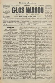 Głos Narodu : dziennik polityczny, założony w r. 1893 przez Józefa Rogosza (wydanie wieczorne). 1908, nr319