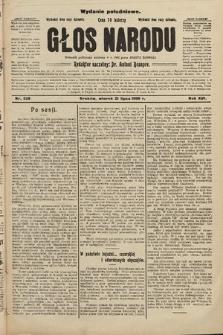 Głos Narodu : dziennik polityczny, założony w r. 1893 przez Józefa Rogosza (wydanie południowe). 1908, nr328