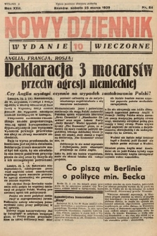 Nowy Dziennik (wydanie wieczorne). 1939, nr84