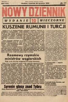 Nowy Dziennik (wydanie wieczorne). 1939, nr107