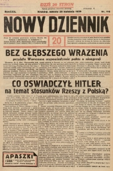 Nowy Dziennik. 1939, nr116