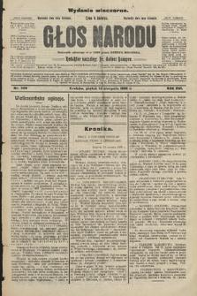 Głos Narodu : dziennik założony w r. 1893 przez Józefa Rogosza (wydanie wieczorne). 1908, nr369