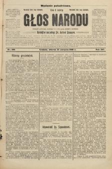 Głos Narodu : dziennik założony w r. 1893 przez Józefa Rogosza (wydanie południowe). 1908, nr386