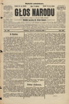 Głos Narodu : dziennik założony w r. 1893 przez Józefa Rogosza (wydanie południowe). 1908, nr398