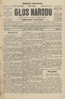 Głos Narodu : dziennik założony w r. 1893 przez Józefa Rogosza (wydanie wieczorne). 1908, nr419