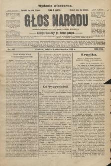 Głos Narodu : dziennik założony w r. 1893 przez Józefa Rogosza (wydanie wieczorne). 1908, nr451