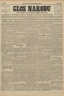 Głos Narodu. 1908, nr489