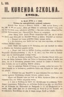 Kurenda Szkolna. 1863, kurenda2