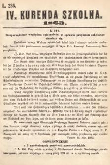 Kurenda Szkolna. 1863, kurenda4