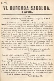 Kurenda Szkolna. 1863, kurenda6