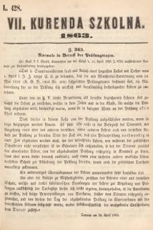 Kurenda Szkolna. 1863, kurenda7