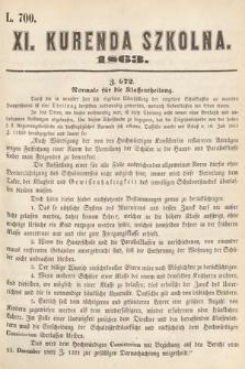 Kurenda Szkolna. 1863, kurenda11