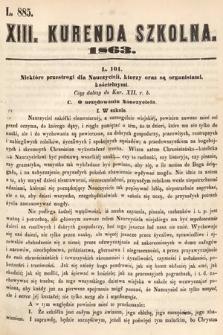 Kurenda Szkolna. 1863, kurenda13
