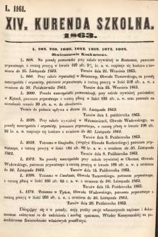 Kurenda Szkolna. 1863, kurenda14