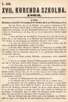 Kurenda Szkolna. 1863, kurenda17