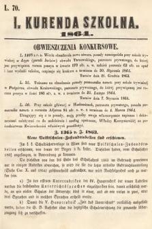 Kurenda Szkolna. 1864, kurenda1