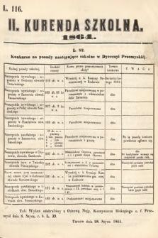 Kurenda Szkolna. 1864, kurenda2