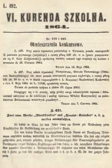 Kurenda Szkolna. 1864, kurenda6