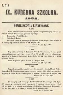 Kurenda Szkolna. 1864, kurenda9