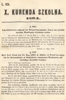 Kurenda Szkolna. 1864, kurenda10