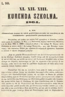 Kurenda Szkolna. 1864, kurenda11, 12, 13