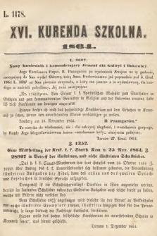 Kurenda Szkolna. 1864, kurenda16