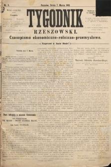 Tygodnik Rzeszowski : czasopismo ekonomiczno-rolniczo-przemysłowe. R. 1, 1883, nr9