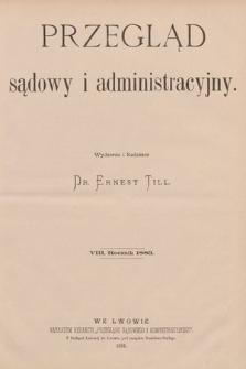 Przegląd Sądowy i Administracyjny. 1883 [całość]