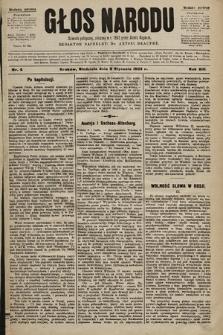 Głos Narodu : dziennik polityczny, założony w r. 1893 przez Józefa Rogosza (wydanie poranne). 1905, nr8