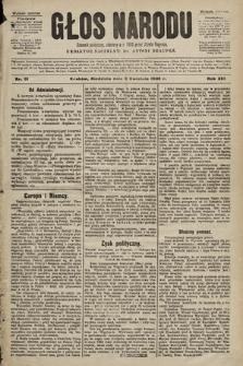 Głos Narodu : dziennik polityczny, założony w r. 1893 przez Józefa Rogosza (wydanie poranne). 1905, nr91