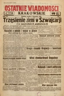 Ostatnie Wiadomości Krakowskie. 1936, nr1