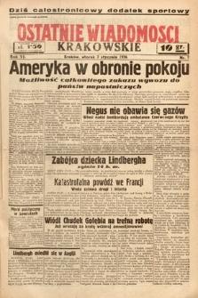 Ostatnie Wiadomości Krakowskie. 1936, nr7