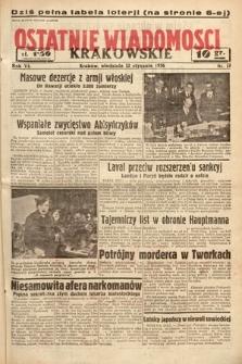 Ostatnie Wiadomości Krakowskie. 1936, nr12