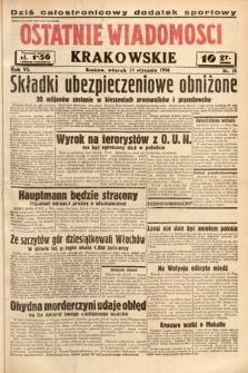 Ostatnie Wiadomości Krakowskie. 1936, nr14