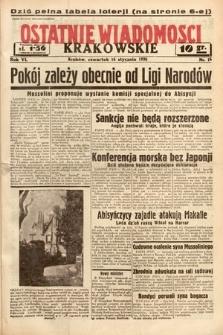 Ostatnie Wiadomości Krakowskie. 1936, nr16