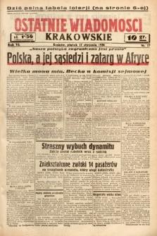 Ostatnie Wiadomości Krakowskie. 1936, nr17