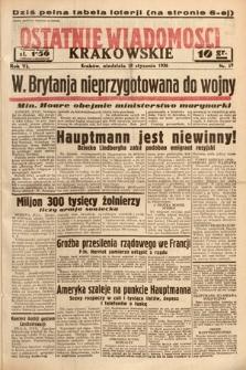 Ostatnie Wiadomości Krakowskie. 1936, nr19